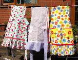 Pinny on the washing line