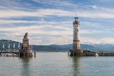 Lindau lighthouse lake Constance Germany