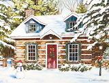 ^ Christmas Log Cabin