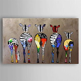 oil painting abstract zebras hand painted canvas
