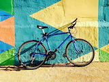 Puz bicycle wall colorful