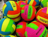 Colorful Volleyballs
