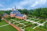 ^ Governor's Palace, rear view, Williamsburg, Virginia