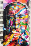 Street Art by Eduardo Kobe's photo credit Alan Teixeira