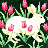 Art Deco Rabbitt by Stephanie Stouffer
