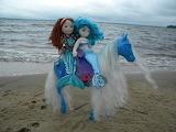 mermaids on sea horse