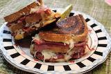 ^ Oven-grilled Reuben sandwich