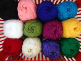 ^ Yarn of many colors