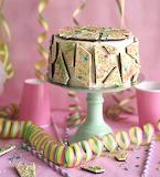 Rainbow bark birthday cake
