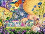fairies+flowers+mushrooms