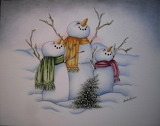 ^ Snowmen ~ Joan Sarginson