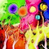 colorful tree abstract