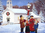 Christmas Carolers by John Sloane...