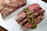 #Flat Iron Steak with Dijon Caper Sauce