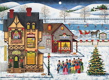 'Main Street Carolers' by Art Poulin...
