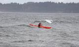 Kayak in the waves