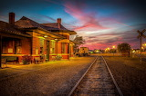 Sunset at the Depot