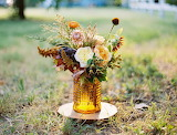 Rustic Mustard Fall Centerpiece