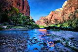 Zion National Park and Stream USA