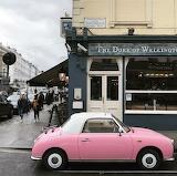 Portobello Road London England with car