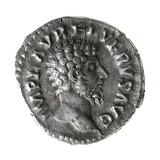 Romeinse munt Lucius Verus voorzijde