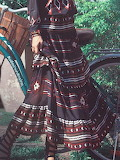 Aporia. AS Multicolor Vintage Tribal Maxi Skirt