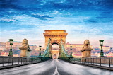#Széchenyi Chain Bridge Budapest Hungary Getty Image
