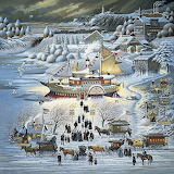 Winter Steamboat Art