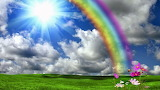 Rainbow and blue sky