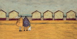 ^ Looking through the gap in the beach huts ~ Sam Toft