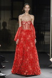 Red Bustier Gown