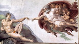 Michelangelo's painting the creation of Adam