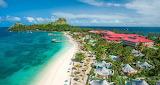 Aerial-beach-ocean-mountain-resort-caribbean