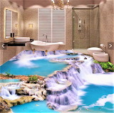 Beibehang 3D Custom Bathroom Floor