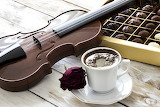 violin and chocolate
