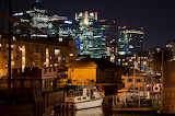 Surrey quays at night