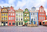 Colorful Homes in the Village of Pozan Poland
