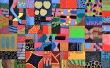 fabric collage