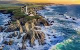 Arena Point Lighthouse sunset California