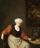 'A Woman Drinking' by Adriaen van Ostade
