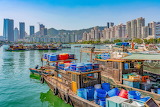Shenzhen harbour on the pearl river delta, China