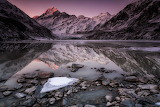 Hooker Glacier Lake by Marta Kulesza