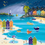 Stormy Skies and Beach Huts - Anne Blundell