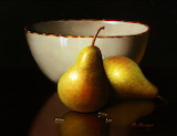 #Still Life with Pears and Porcelain Bowl