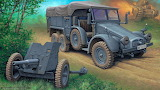 war truck and canon