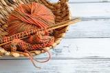 Orange yarn in a basket