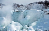 American Falls as seen from Niagara Falls. Ontario. Canada 2.19.