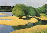Felix Vallotton, Des bancs de sable sur la Loire, 1923