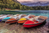 Colorful Boats-Beautiful Lake