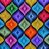 ^ Colorful Bargello